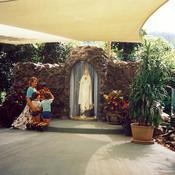 Our Lady of Fatima Grotto as it first looked.