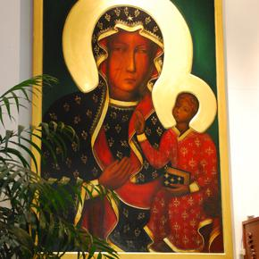 A true replica of the Black Madonna Icon.