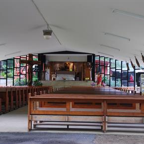 The outer part of the Main Chapel where Mass is held on Sunday.
