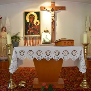 The inner chapel where Mass is held daily.